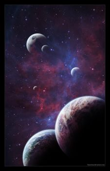 Moment in space CXIX by Funerium