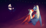 Lovely Nuzzle: Latias x Latios Xmas 2016 by streetdragon95