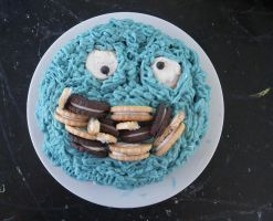Cookie Monster Cake by SmallBell