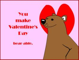 HVAL Bear Valentine by airlobster
