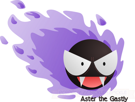 Aster the Gastly by pbcpony