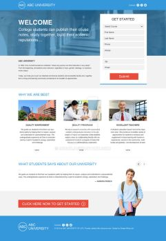 One Page PSD Template - Education Landing Page - by 90Box