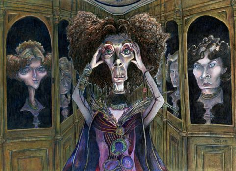 Princess Mombi and her collection of heads by Caricature80