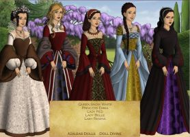 Once Upon A Time Ladies Tudor Style by KatePendragon