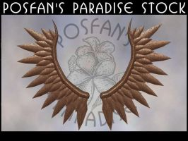 Metal Angel Wings 005 by poserfan-stock