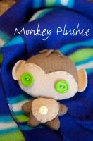 Monkey Plushie by Demi-Plum