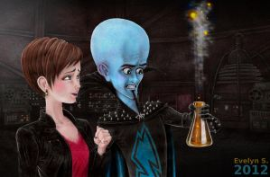 Megamind having an idea by eleathyra