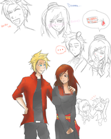 APH: DenmarkXFem!Romania Sketch Dump 1 by DifferentWaysToCry