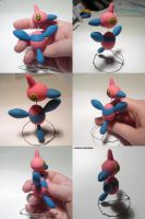 Porygon Z Sculpture by ChibiSilverWings
