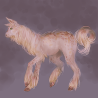 Some hairy horselike creature by QuennyQueen