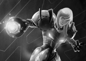 SAMUS SKETCH by unrealsmoker