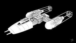 BTL Y-Wing Starfighter Profile by JasonMartin3D