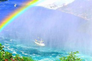 Misty Boat Under The Rainbow by Liarbriarpantsonfiar