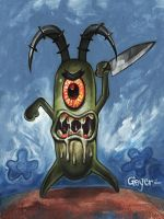 Plankton Spongebob Squarepants by adamgeyer