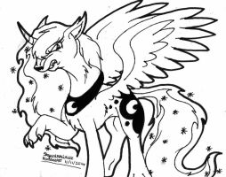 Wolf-Pony Luna by SkywalkerGirl666
