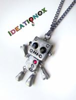 Cute Charm Robot Necklace by Ideationox