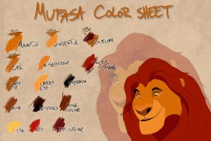 Mufasa color sheet by Takadk