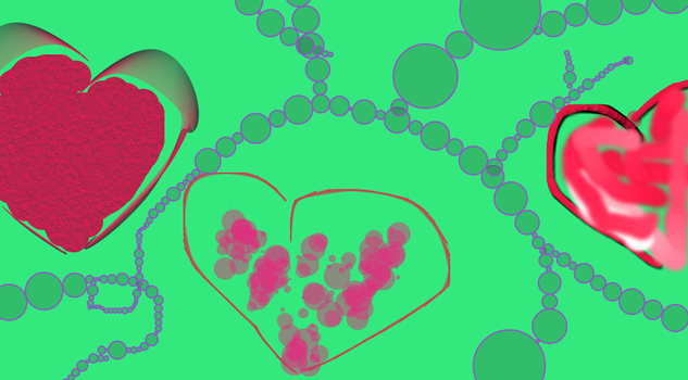 three hearts thing..... i was bored by Allyson-SacrificeLUV