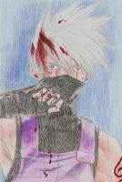 bloody kakashi by blackyuna