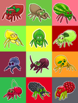 Fruitbutt Spiders by SaritaWolff