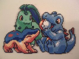 Second Gen Starters Perler by SpringDasie
