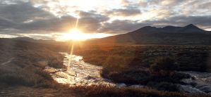 Sunset in Rondane by Serjia