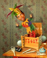 Tiger in a box by funkwood