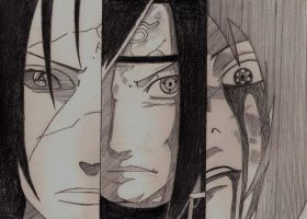 Fanart - Itachi, Madara and Sasuke by dia-cris