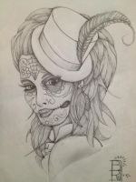day of the dead portrait by BenjiRox