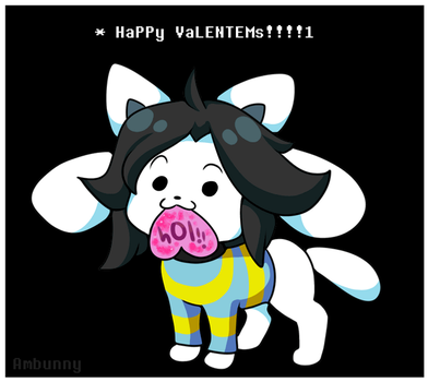 Temmie Valentine (Animated) by Ambunny