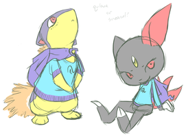 quilava or sneasel? by queenofdavekat