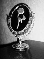 Beauty and the Beast enchanted rose and mirror by EnchantedBlueRose