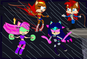 Super Mobians in battle (Part 2 of 5) by DarkCatTheKhajjit