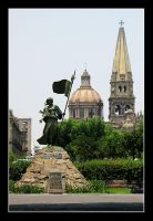 Statue and Cathedral by Zefhar