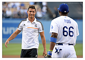 Cristiano Ronaldo at LA Dodgers game by RafaelVicenteDesigns