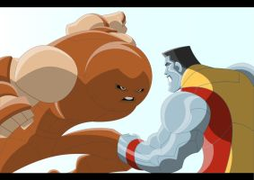 Colossus VS Juggernaut by Apollorising
