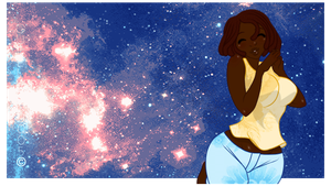 My Melanin Feels the Cosmos by guillmon9005