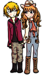 AT: Rachel and Neil by ToonMidna1
