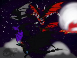 Mega's Flight of Dragons by BlackDragon-Studios