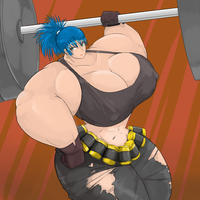 Leona Heidern Muscle by Commoddity