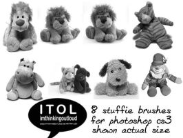 8 Stuffie Brushes by imthinkingoutloud