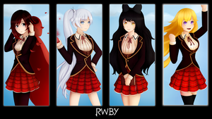 RWBY .:. Welcome to Beacon by LensArtCorner