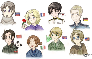 Hetalia Portaits by flamingmarshmallows