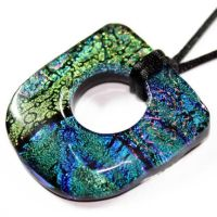 Large Hole Fused Glass Pendant by Create-A-Pendant