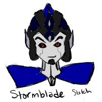 Stormblade Sketch by Drabble-Monster