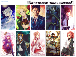 21.04.2015 ~ Favorite Characters by xLolitaxXx