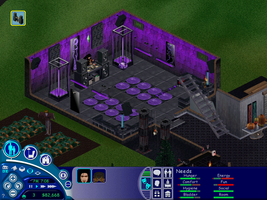 The Blackmoon Estate (rave room interior) by Aeruhl