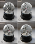 : winter kitsune snowglobe : by BastardPrince