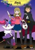 PKMN V - Ash and Serena XII: Halloween by Blue90
