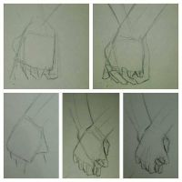 How to draw hands holding by GonzaU